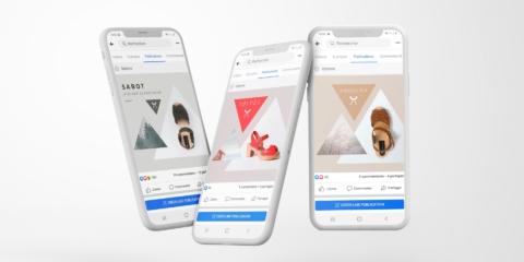 Flying iPhone X Mockups atelier scandinave